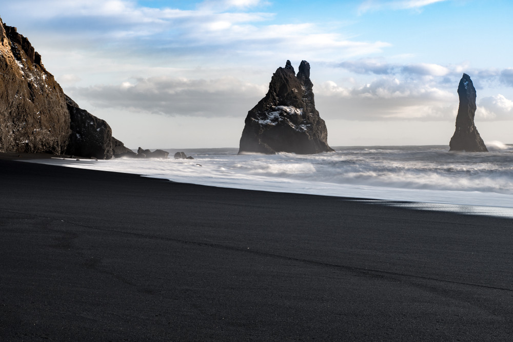 Black sand beach in Vik, South Iceland
