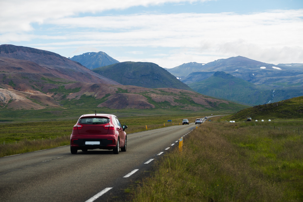 Slow down while driving in Iceland to increase your fuel efficiency