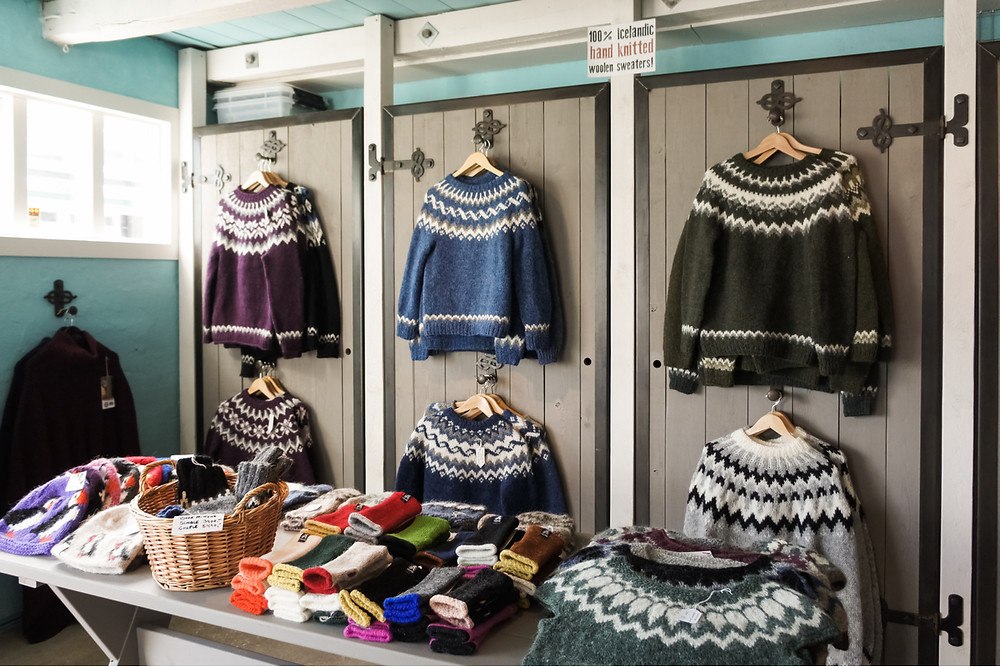 The best place to buy sweaters in Iceland is a traditional store