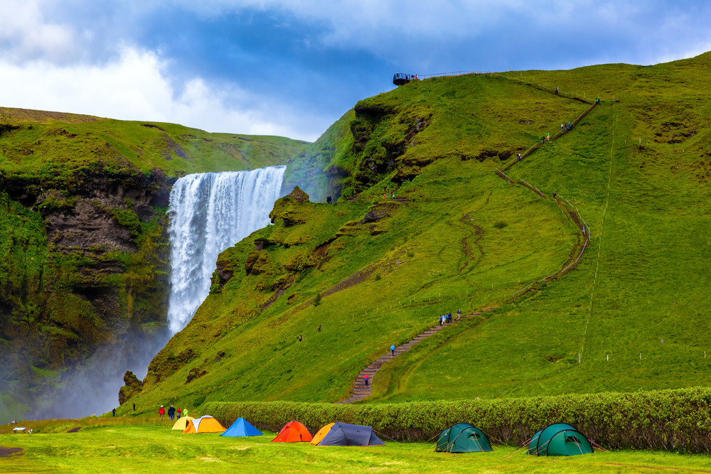 Skógar campsite is one of the best campsites in Iceland