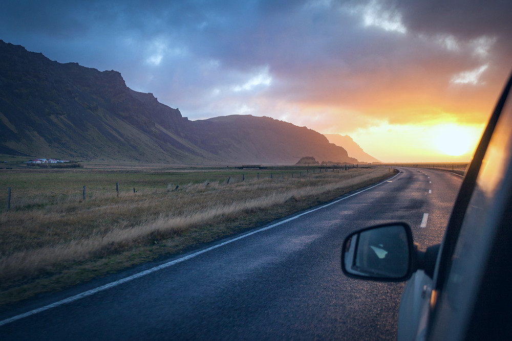 Reykjavik day trips: Ring Road sunset with full list of ideas and suggestions