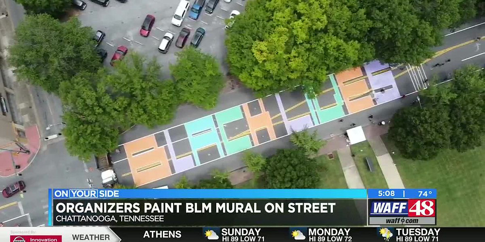 'Black Lives Matter' painted on MLK Blvd. in Chattanooga