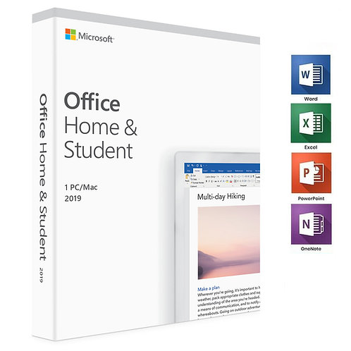 Microsoft - Office - Home and Student 2019 (1 PC\Mac) - BOX