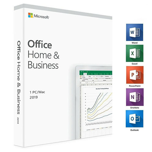 Microsoft - Office - Home and Business 2019 (1 PC\Mac) - BOX