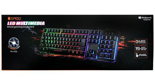 ERGO - Gaming LED Wired Keyboard - Metal Base (HEB)