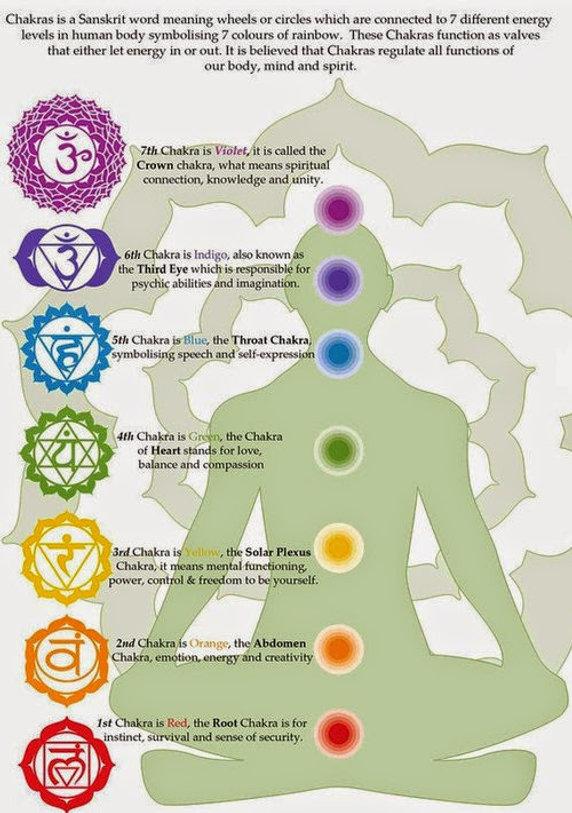 The 7 chakra system.