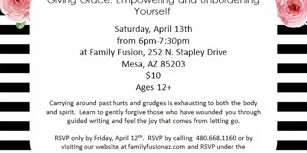 Giving Grace: Empowering and Unburdening Yourself