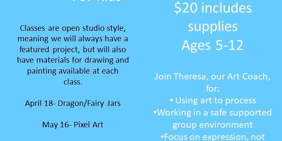 Heart Space for Kids- Pixel Art