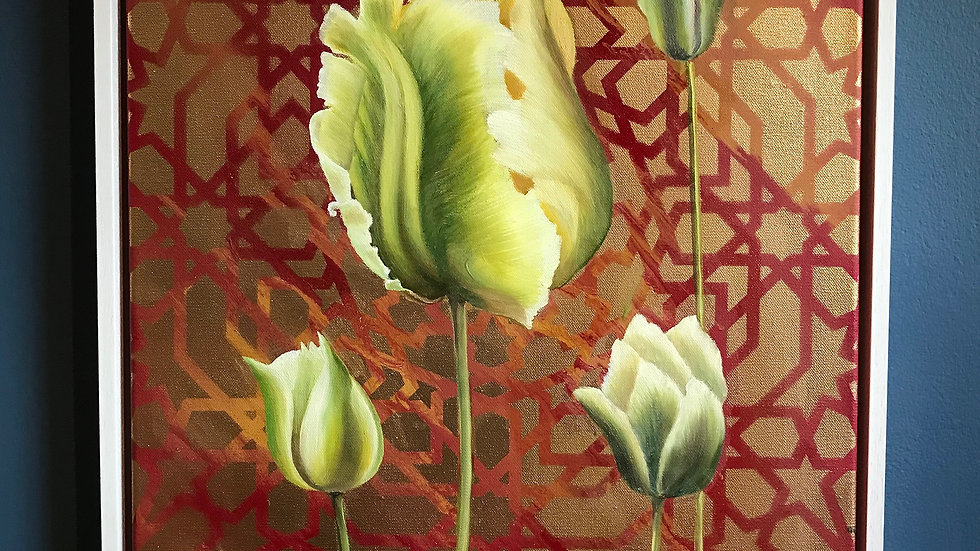 Four Green Tulips