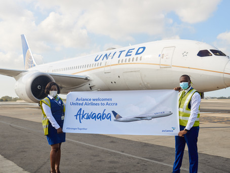 UNITED AIRLINES FLIES TO ACCRA
