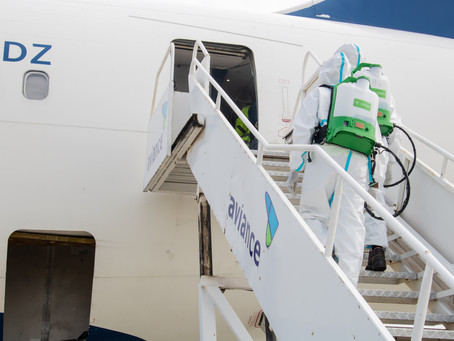 AIRCRAFT CLEANING AND DISINFECTION