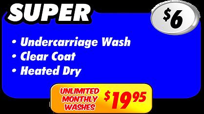 Supe Wash $6