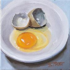 Oil on canvas 6x6