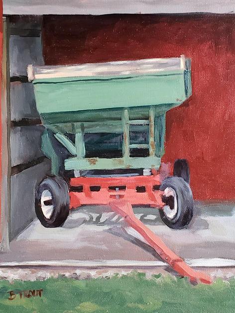 Green Grain Wagon