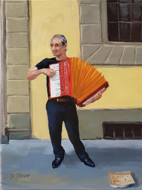 Street Accordionist in Italy