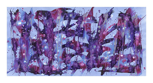 Shooting Star on the Cosmic Stage Giclee Print 1100 x 598