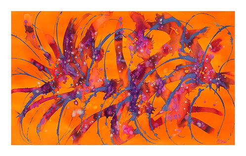 Exploding Heart Giclee Print 1100 x 700