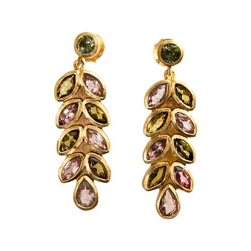 Multi tourmaline Earrings