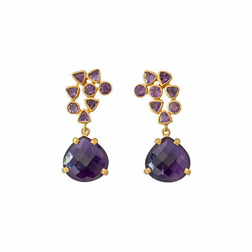 Amethyst Drop Earrings.
