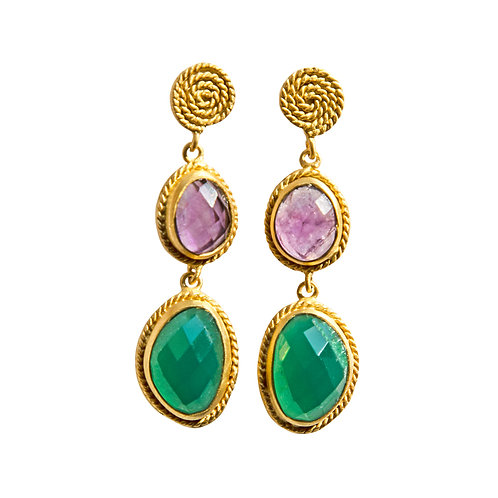 Evergreen Multi Stone earrings