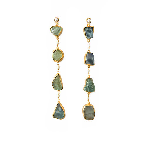 Apatite Shoulder Duster Earrings