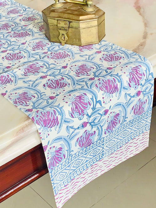 Floral Multicolor Hand Block Printed Table Runner