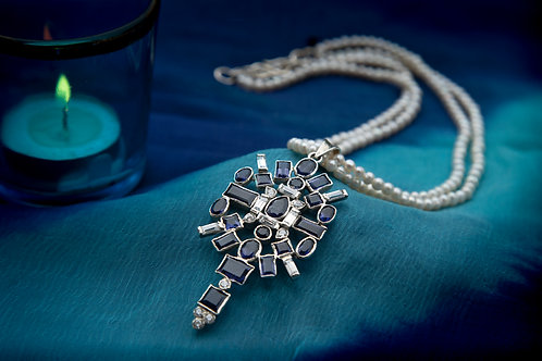 Modern Luxe Iolite Pendant Necklace