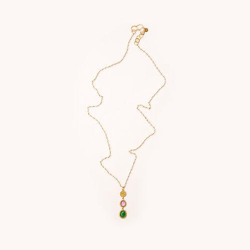Evergreen Multi Stone Necklace