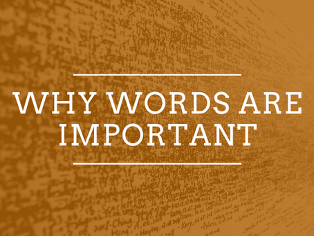 Why words are important