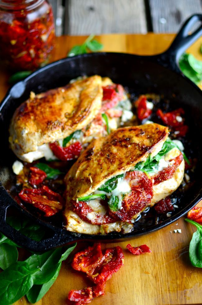 sundried tomato stuffed chicken