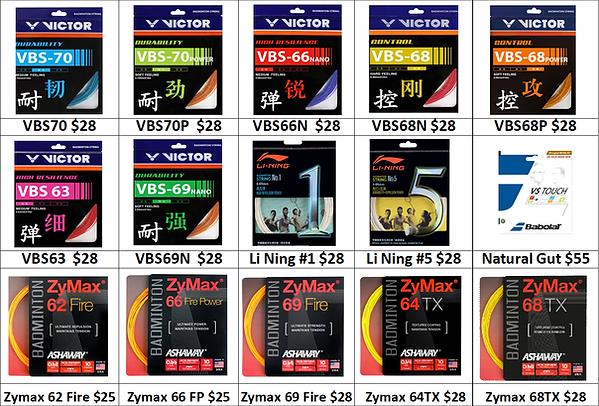 Badminton strings price chart.png