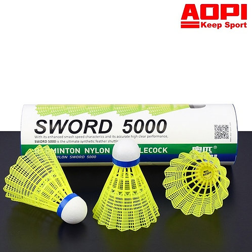 Badminton Nylon Shuttlecocks - Sword 5000 Yellow