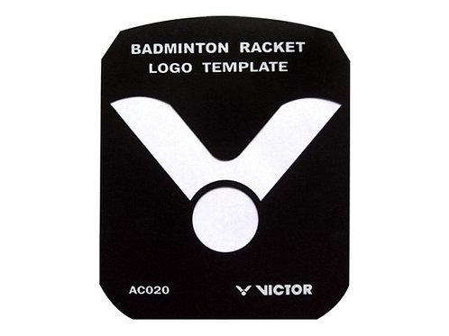 Victor badminton racket logo stencil AC020