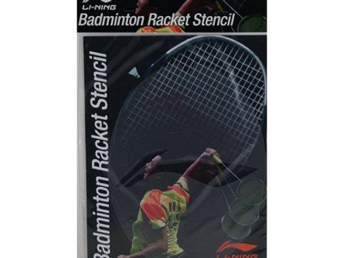 Li Ning badminton Racket Stencil