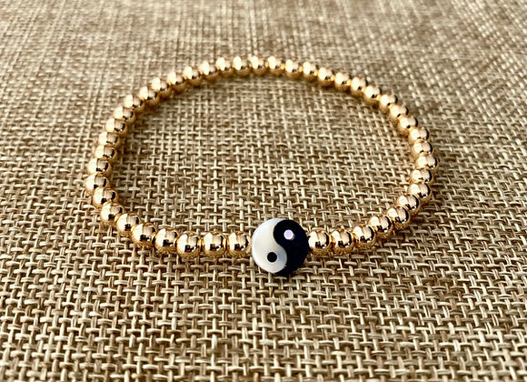 Gold Filled Ying Yang Bracelet