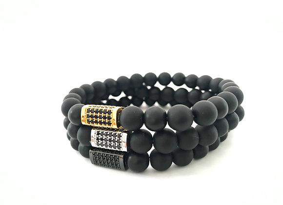 Onyx Pave Bar Bracelet