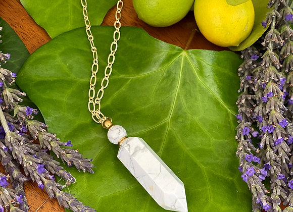 Howlite Oils Bottle Necklace