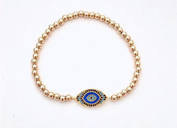 Gold Filled Evil Eye Bracelet