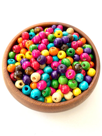Multicolor Wood Beads