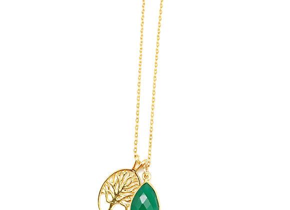 Onyx Tree of Life Necklace