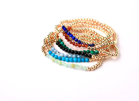 Gold Filled Gemstones Bracelets - 4mm