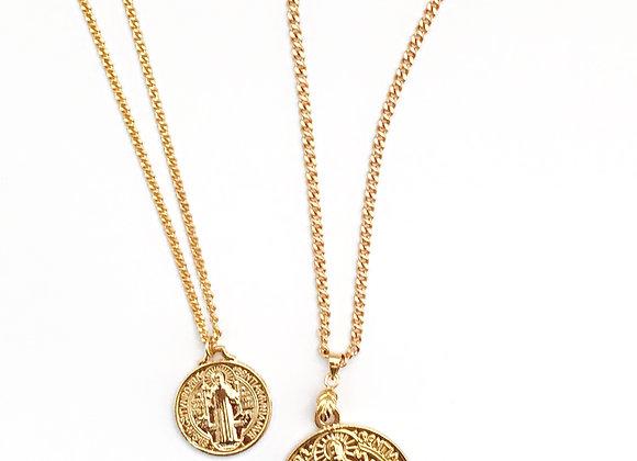 Saint Medallion Gold Necklace
