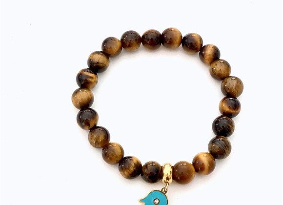 Tiger's Eye Turquoise Hamsa Bracelet