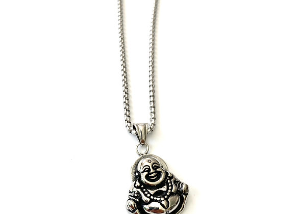 Stainless Steel Buddha Necklace