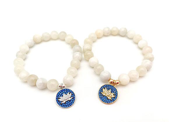 Opal Lotus Bracelet