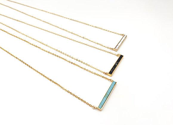 Howlite Bar Gold Necklace