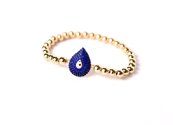 Gold Filled Evil Eye Tear Drop Bracelet