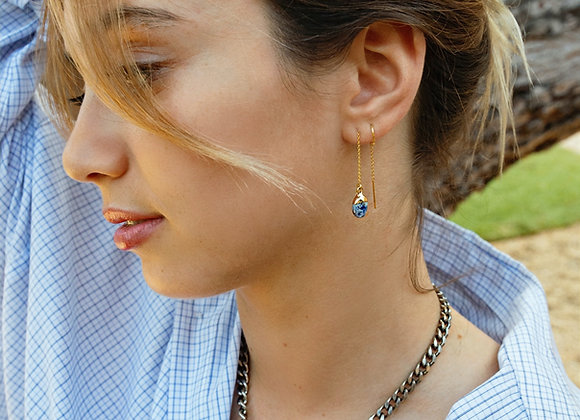 Tear Drop Threader Earrings