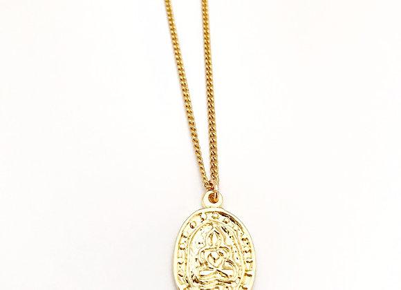 Sitting Buddha Medallion Necklace