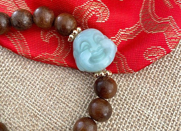 Jade Sandalwood Buddha Bracelet